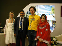 Май 2009. На выставке Bahrain International Travel Expo